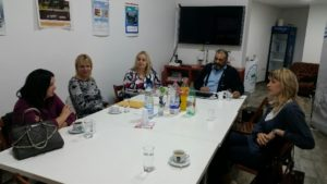 "REPRESENTATIVES OF ""EDUCATVE"" CENTRE OF EDUCATION, VALJEVO VISITING DANUBE 1245"